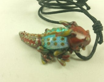Horned Lizard - Glass Pendant Necklace