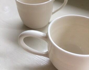 porcelain espresso cup -- 3 oz