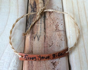 Sing Your Life Leather String Bracelet