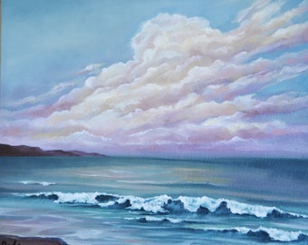 The Way - Original oil on canvas Seascape Painting by Sam Lyle