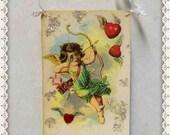 valentine card,decoration, paper, vintage, antique postcard, cupid, victorian ornament #7