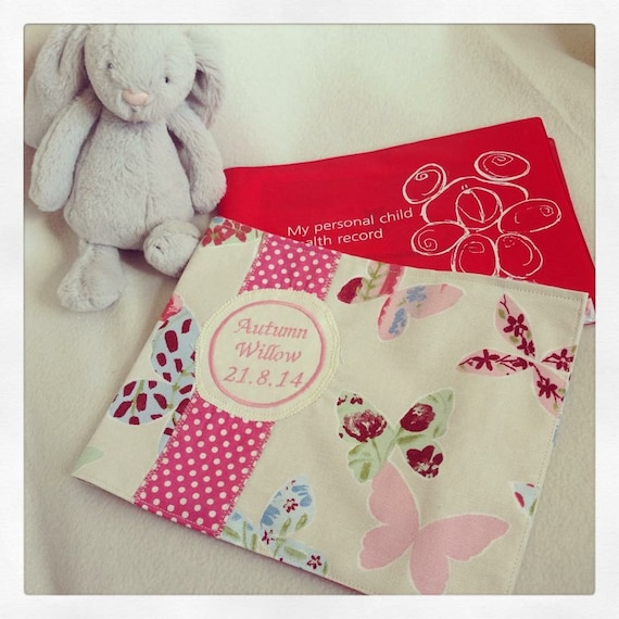 Nhs Red Book Cover Tutorial ~ Girls personalised nhs red book cover