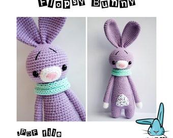 Flopsy Bunny - amigurumi crochet pattern. Pattern language - English.