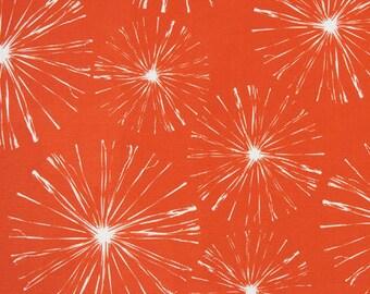 Premier Prints Sparks Orange Indoor/Outdoor Fabric, Orange And White Fabric,  Sunburst Orange