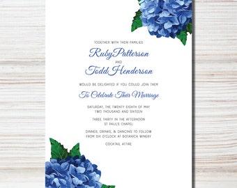 Hydrangea Wedding Invite