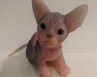 Sphinx kitten Blueberry (silicone)