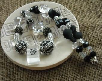 Mahjong Jewelry - Gift for Her - Black Mahjong Necklace  - Mahjong Gift - Jesse James Beads - Mah jong Jewelry - Gift Idea
