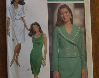 Butterick 4837, sizes vary, unlined jacket, dress, UNCUT sewing pattern, craft supplies