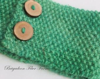 Alpaca Headband Knitting Pattern, Seed Stitch