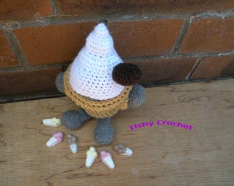Inchoate Soft Scoop Ice Cream Sweater and Hat crochet pattern
