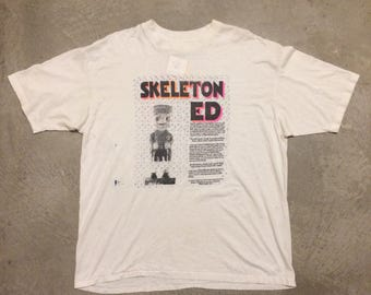Vintage 1990's Skeleton Ed T-Shirt