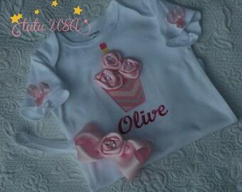 Baby Girl 1st Birthday Cupcake Onesie / Cupcake Pink 1st Birthday Onesie, Pink Cupcake First Birthday,One Year Old,1st Birthday Girl Onesie