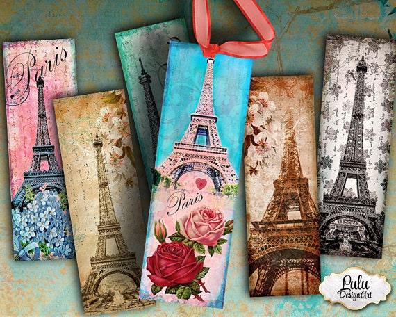 paris bookmarks printable bookmarks digital tags printable