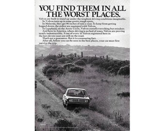 Vintage 1970 newspaper poster ad for Volvo - 16