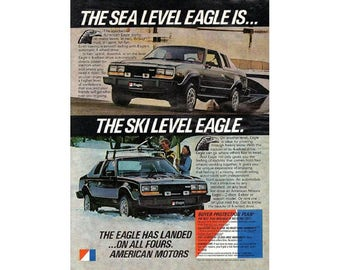Vintage 1980 Magazine ad for Eagle  car - 17