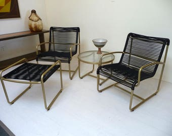 Brown Jordan 4 Piece Set Mid Century Modern Outdoor Patio Furniture