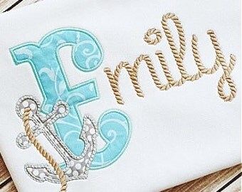 Anchor w/Rope Name