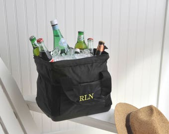 Personalized Wide-Mouth Ice Cooler Bag - Insulated Cooler - Wide Mouth Cooler - Tailgating - Cooler - Gifts for Him - Gifts for Her - GC802