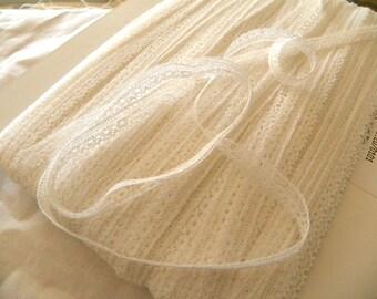 cotton white lace 8 mm