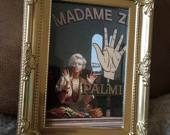"""Marilyn Monroe palm reader photo in a gold frame 6x4"""""""