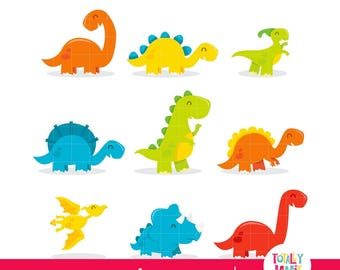 Dinosaur clipart/  Cute dinosaur clipart / dinosaur birthday clipart / Clip art Set