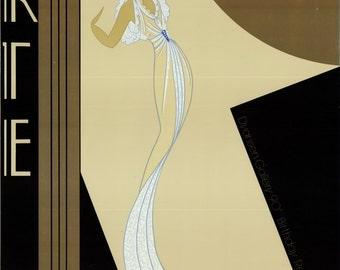 ERTE - original vintage serigraph and silkscreen poster - c1982 - original frame (Dyansen Gallery, New York)