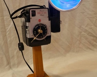 Kodak Brownie Bullseye Camera Clock/Lamp Combo Upcycled