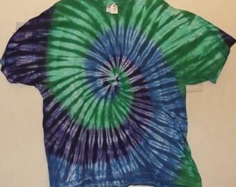 Adult 3X T-Shirt, Blues/Greens/Purples  (D)