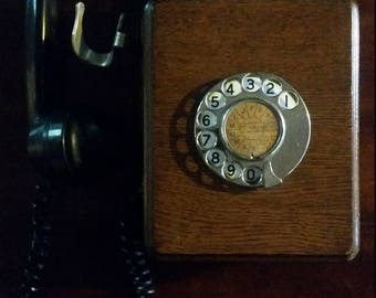 Wooden Dial Telephone