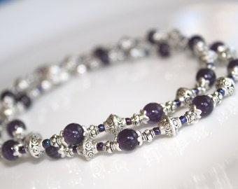 Amethyst Crystal Necklace, Amethyst Jewelry, Amethyst Bead Necklace, Amethyst Necklace, Amethyst Crystal, February Birthstone, Gypsy Jewelry