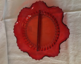 Ruby Red Radiance Relish Dish