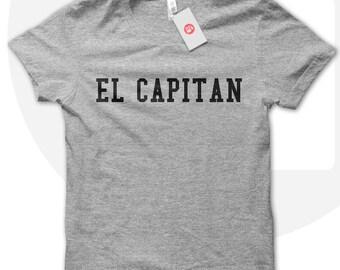 EL CAPITAN t-shirt, Unisex Captain tee, captains tshirt, spanish sayings, gift for loved one, black t shirt, white t-shirt, grey tshirt