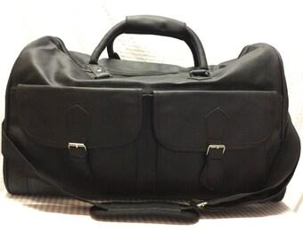 Large Black Duffle Bag PVC