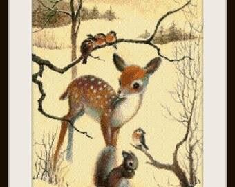 Cross stitch pattern, cross stitch, Christmas vintage 4 - cross stitch pattern - PDF pattern - instant download!