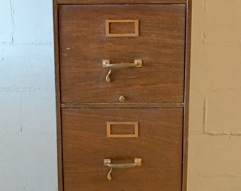 Vintage Industrial Shaw Walker Steel File Cabinet