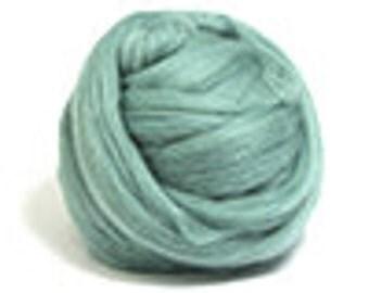 Corriedale Wool Roving /Combed Top/Braid in Teal  - 2 oz