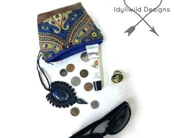 Ciqala Coin Purse in Turkish Dream, Coin Purse, Tribal Coin Purse, Boho Coin Purse