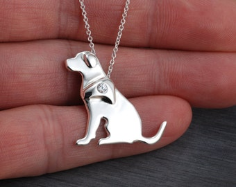 Labrador Retriever Handcrafted sterling silver necklace