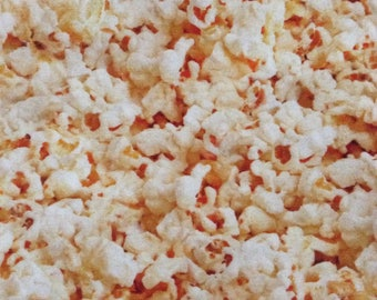 One Half Yard Piece of Fabric Material -  Packed Popcorn