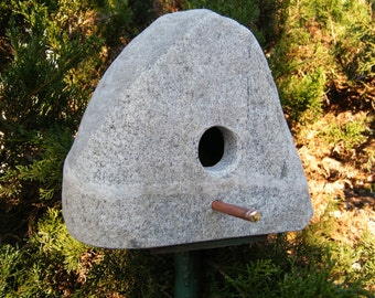 Birdhouse/ Natural Stone Birdhouse/Crafted Stone Birdhouse