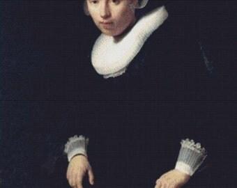 A Portrait Of A Young Woman PDF Cross Stitch Pattern