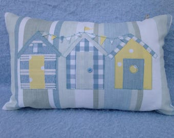 Beach Huts Applique Etsy