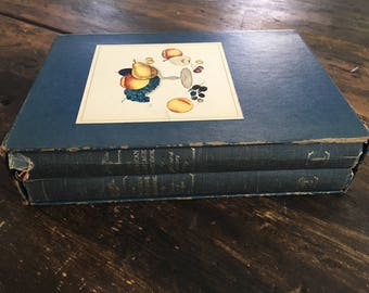 The American Heritage Cookbook Set - Illustrate History and Menus & Recipes / 1964 Edition / Vintage Cook Book