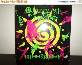 Save 30% Today Vintage 1991 Vinyl Record DJ Jazzy Jeff & The Fresh Prince Summertime Excellent Condition 7819