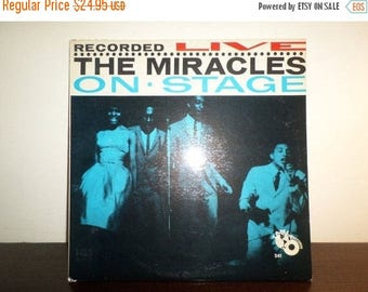 Save 30% Today Vintage 1963 Funk Soul Vinyl LP Record The Miracles On Stage Recorded Live Very Good Condition 8097