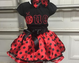 A beautiful lady bug outfit