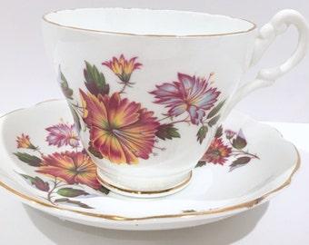 Royal Ascot Tea Cup and Saucer, Antique Tea Cups, Tea Set, English Bone China Cups, Vintage Tea Cups, Antique Teacups, Bridal Shower Gift