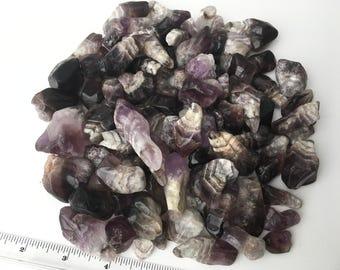 1kg Tumbled Chevron Amethyst Crystals - Purple Chevron Amethyst Quartz Crystal Natural Stones Bulk - Chevron Amethyst Mineral Gemstone
