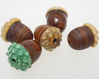 Glass Acorn Lampwork Bead or Charm