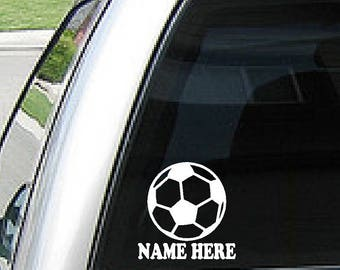 Custom Soccer Ball Etsy - Soccer custom vinyl decals for car windows